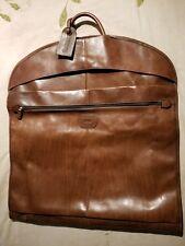 "Jack Georges 49"" Brown Saddle Leather Garment Bag/Cover 6549"