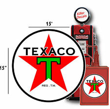 "15"" PRE WAR TEXACO GASOLINE LUBSTER OIL TANK DECAL 3"