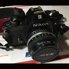 Original vintage Nikon EM 35mm SLR Film Camera w/Series E Nikon 50mm F1.8 Lens