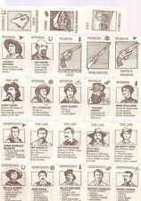DESPERADO WILD WEST 48 CARD SET-LAWMEN, CRIMINALS, WEAPONS,CRIMES, ETC.