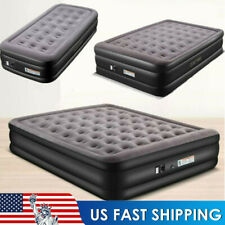Twin King Air Mattress BlowUp Elevated Raised Bed Inflatable Airbed Buit-in Pump