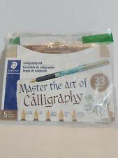 Staedtler Calligraphy 33 Piece Set - 4 Pens - 5 Nibs - 20 Ink Cartridges- Tin