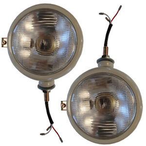 Left & Right 12 Volt Headlight Set Fits Ford 2N 8N 9N 800 600 NAA Repl 310066F