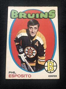 1971-72 OPC O-Pee-Chee Phil Esposito Hockey Card #20 Boston Bruins