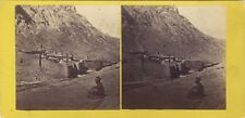 Monastère Sainte-Catherine du Sinaï Egypte Photo Stereo Vintage Albumine ca 1865