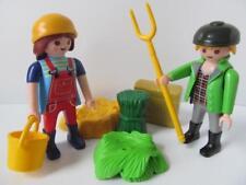 Playmobil Granja/Dollshouse/país Figuras: hombre Y Dama agricultores + Accesorios Nuevo