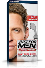 Just For Men AutoStop Mens Hair Colour Dye Auto Stop LIGHT BROWN