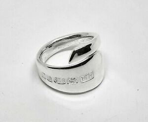 English Made BRAND NEW Solid Sterling Silver Spoon Ring Style With UK Hallmarks