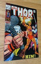 Thor #165 VG+ Marvel Comics 1969 1st Him/Adam Warlock GoG Stan Lee Jack Kirby