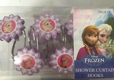 Disney Frozen 12-Piece Shower Curtain Hooks hook bathroom bath anna elsa  NEW
