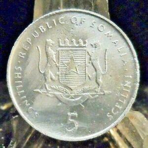 CIRCULATED 2000 5 SCELENI SOMALIA COIN (20519)1.....FREE DOMESTIC SHIPPING!!!!!