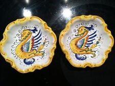 Deruta Italian Majolica - RAFFAELLESCO - PAIR of Scalloped Dishes - NEW