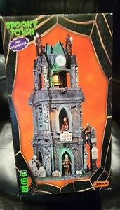 spooky town The Bloody Belfry Halloween Lemax ghoul lost soul skull clock tower