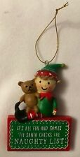 Boy Elf - Christmas Tree Decoration - Naughty List - Brand New