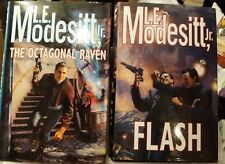 Lot of 2 Sci-Fi, Flash/Octagonal Raven by L. E. Modesitt Jr.  1st Edition, HB/DJ