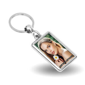 Personalised Any Name & Any Picture Metal Keyring - Single Sided