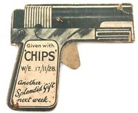 ".EXCEEDINGLY RARE 1928 ""CHIPS"" BOYS MAGAZINE CIGARETTE CARD CARDBOARD SHOOTER."