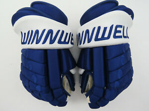"New! Winnwell Toronto Maple Leafs NHL Pro Stock Ice Hockey Player Gloves 13"""