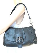 Gorgeous Genuine COACH Soho Black Leather Flap In Black Women's Handbag SOLD OUT