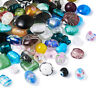 200pcs Handmade Lampwork Beads Assorted Shapes Mixed Color Bracelet Charms
