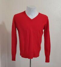 MEN'S SIZE 38 S M LYLE & SCOTT VINTAGE 100% CASHMERE SWEATER RED V-NECK SCOTLAND