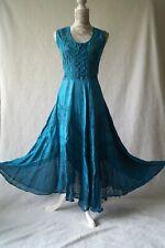 Hippy pagan plus size dress maxi medieval corset gothic steampunk Size 14 16 18