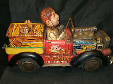 BANDAI TINPLATE TOY CAR COLLECTIBLE ITEM 1960 VINTAGE BATTERY OPERATED VERY RARE