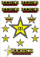 Rockstar Energy Drinks Logo Sheet Stickers Decals Adhesive Set 11 Pcs