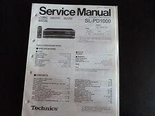 Original Service Manual Technics Compact Disc changer sl-pd1000