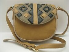 Purse INC Trend $60 REDUCED PRICE Tan Black Olive Shoulder /Cross-Body NWT L463