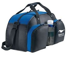 BLACK & BLUE FORD MUSTANG 50TH ANNIVERSARY DUFFEL DUFFLE BAG DUAL FRONT POCKETS!