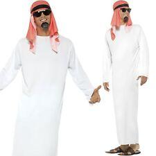Mens Sheikh Costume Arab Prince Sultan Arabian Robe Fancy Dress Outfit