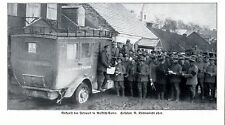 Kaiserlich Deutscher Feldpostwagen in Russisch-Polen 1914 * WW 1