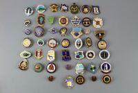 Large Selection Of Old Bowling Badges/ Pins/ Medals
