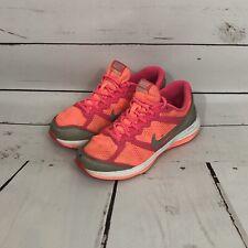 Nike Dual Fusion Run 3 GS Girls Shoes Size 3.5Y 654143-800 Mango Silver Pink