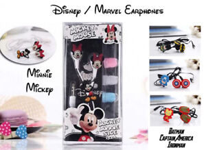 Marvel Disney Mickey Minnie Mouse Wired In Ear 3.5mm Earphones  - Fast Free Post