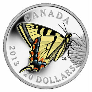 Butterflies of Canada: Tiger Swallowtail - 2013 $20 Fine Silver Coin