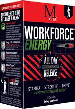 WORKFORCE Energy Supplement Pills KSM-66 Ashwagandha ZumXR Caffeine Zinc Immune