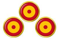 Ejército Del Aire Cocarde (Espagnol Air Force) Marqueurs de Balles de Golf