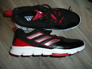 ADIDAS SPEED TRAINER 5 Athletic Shoes Black and Red NWOB Size 14
