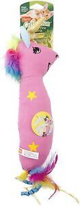 Hartz Cattraction Pink Silver Vine & Catnip Magic Unicorn Kicker Plush Cat Toy