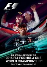 FIA Formula One World Championship - Official review 2015 (New 2 DVD set) F1