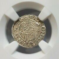 1555 Hungary Silver Madonna Denar NGC MS 63 Hungarian Medieval Renaissance Era