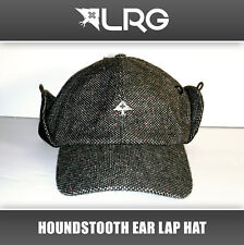 NEW Lifted Research Co LRG Black Grey Ear Flap Winter Hat Cap NWT Snow Board Ski
