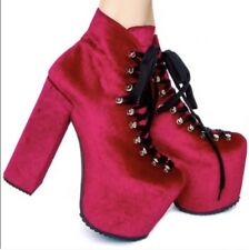 Unif Hellbound Platform Booties Boots Sz 6 Red *RARE*