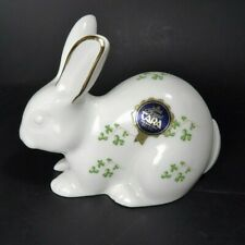 **RARE** Celtic ROYAL TARA RABBIT Figurine ~ Trellis Shamrock ~ Irish Ireland