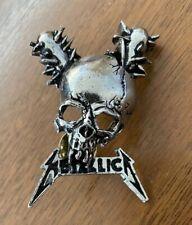 Vintage METALLICA Damage Inc. skull metal pin button badge