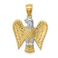 14K White Rhodium Eagle Pendant New Charm Yellow Gold