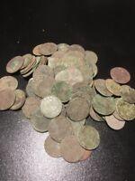 Poland / Lithuania Solidus Szelag 1660-1665 Copper Medieval Coin