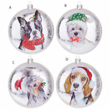 Dog Glass Disc Ornament